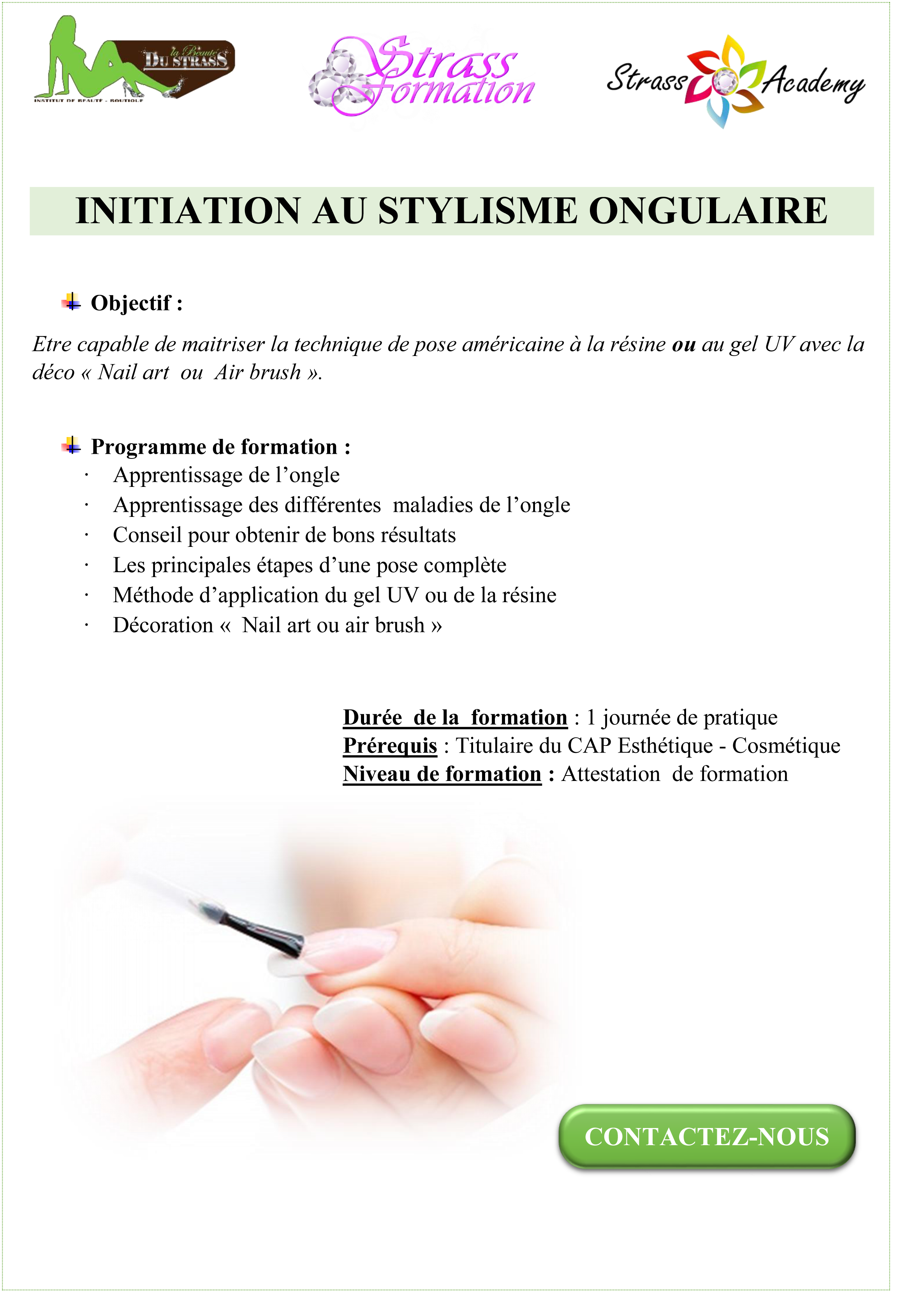 INITIATION AU STYLISME ONGULAIRE