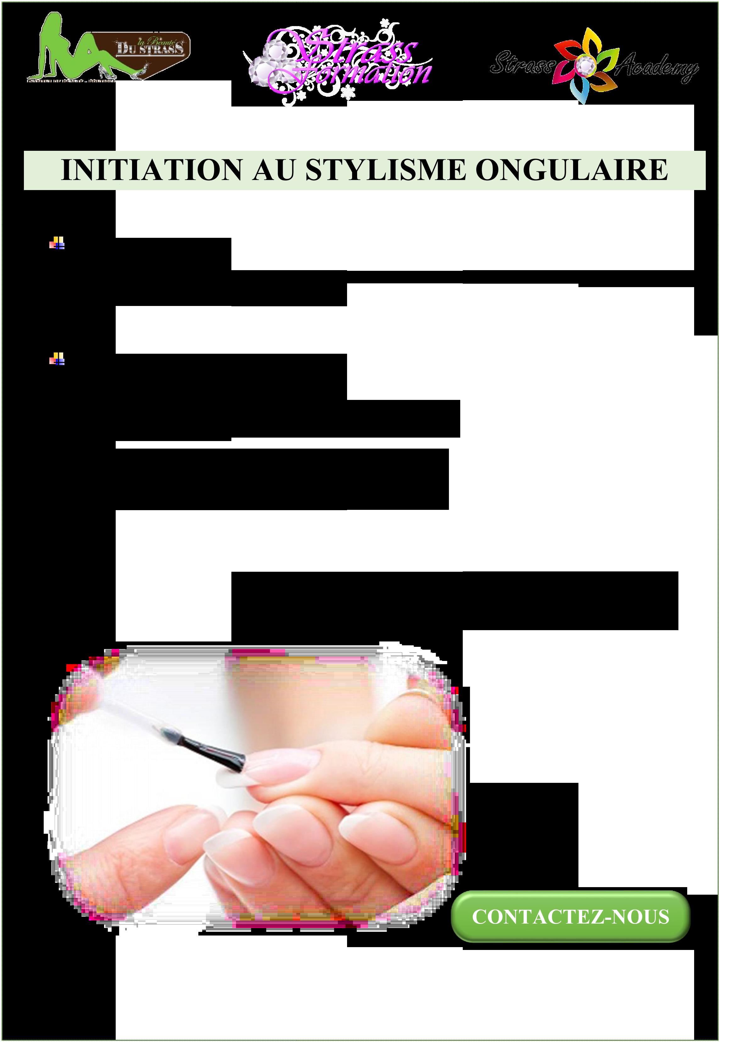INITIATION AU STYLISME ONGULAIRE